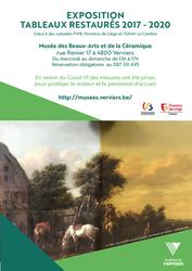 Exposition de tableaux restaurés
