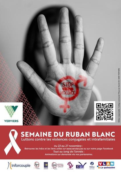 Affiche 2020 campagne  ruban blanc